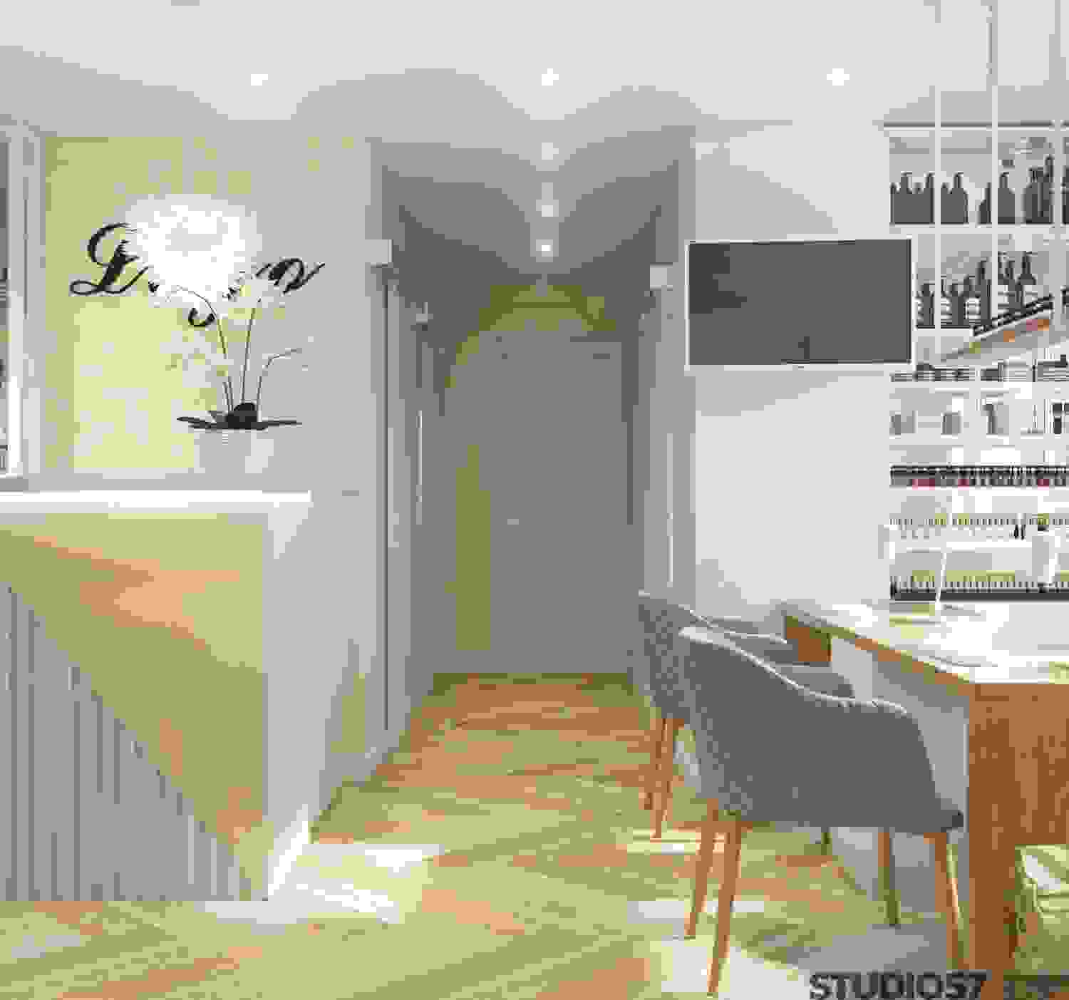 Beauty salon bright interior design
