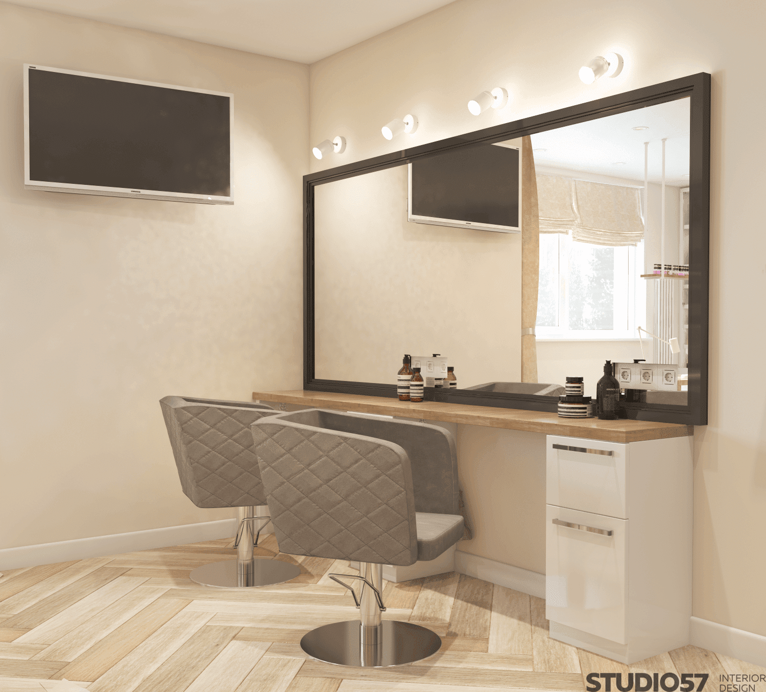 Design project of a small beauty salon