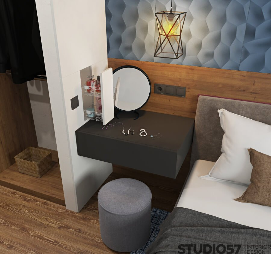 Photo of the female corner in the bedroom