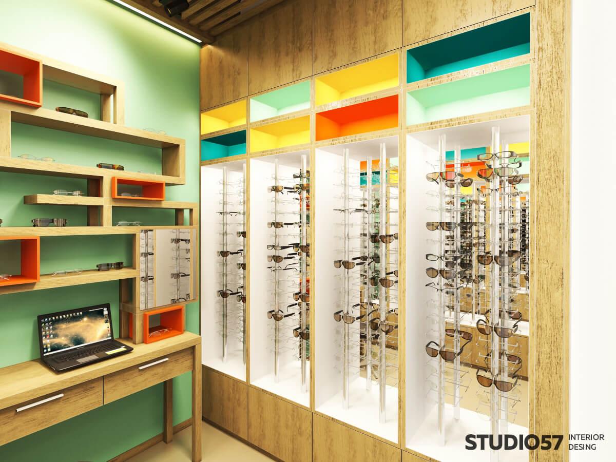 Интерьер магазина для детей с очками