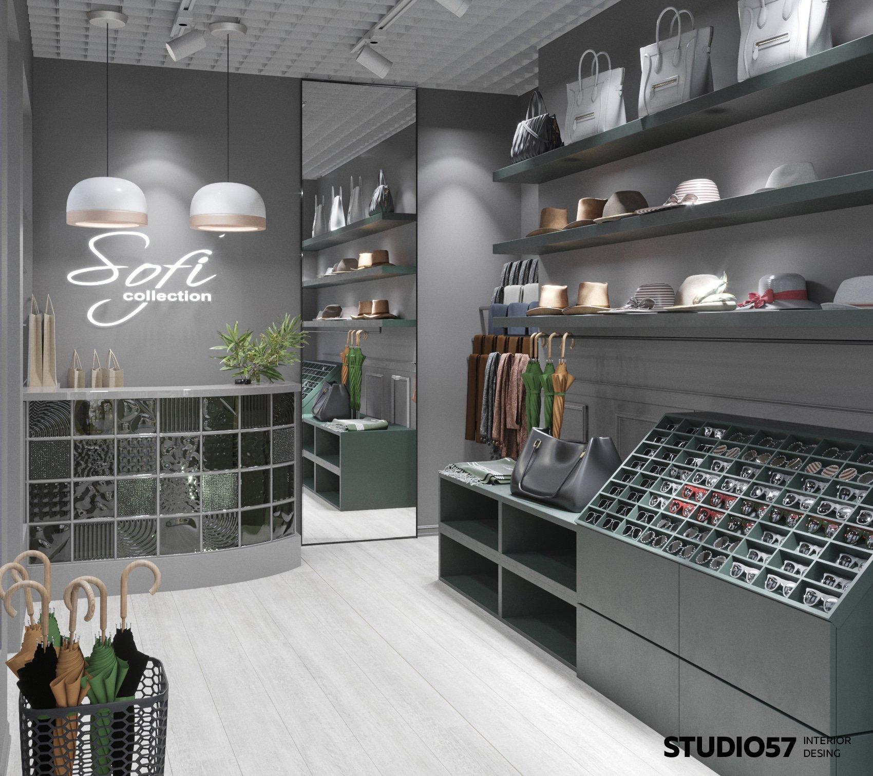 Дизайн интерьера магазина аксессуаров