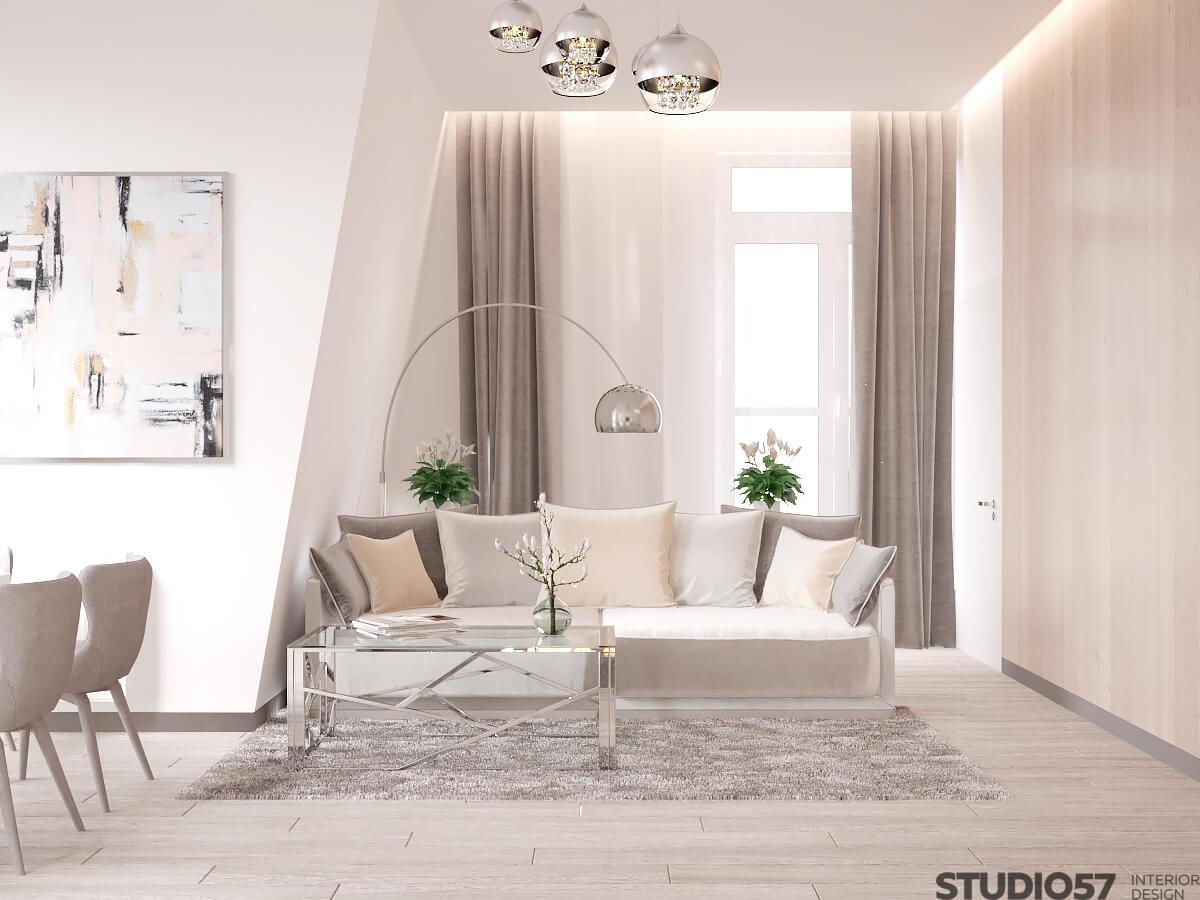Гламурный стиль дизайна квартиры