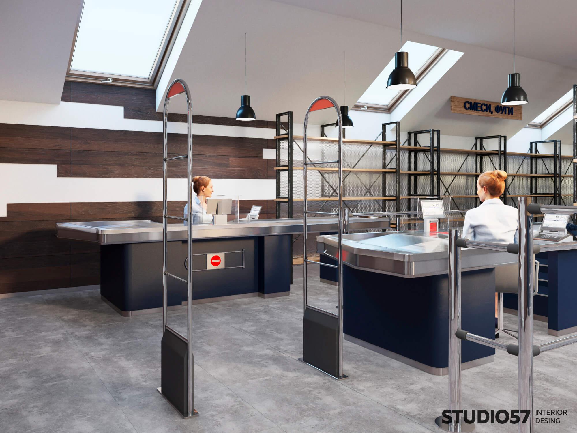 Фото кассы в магазине строительных материалов