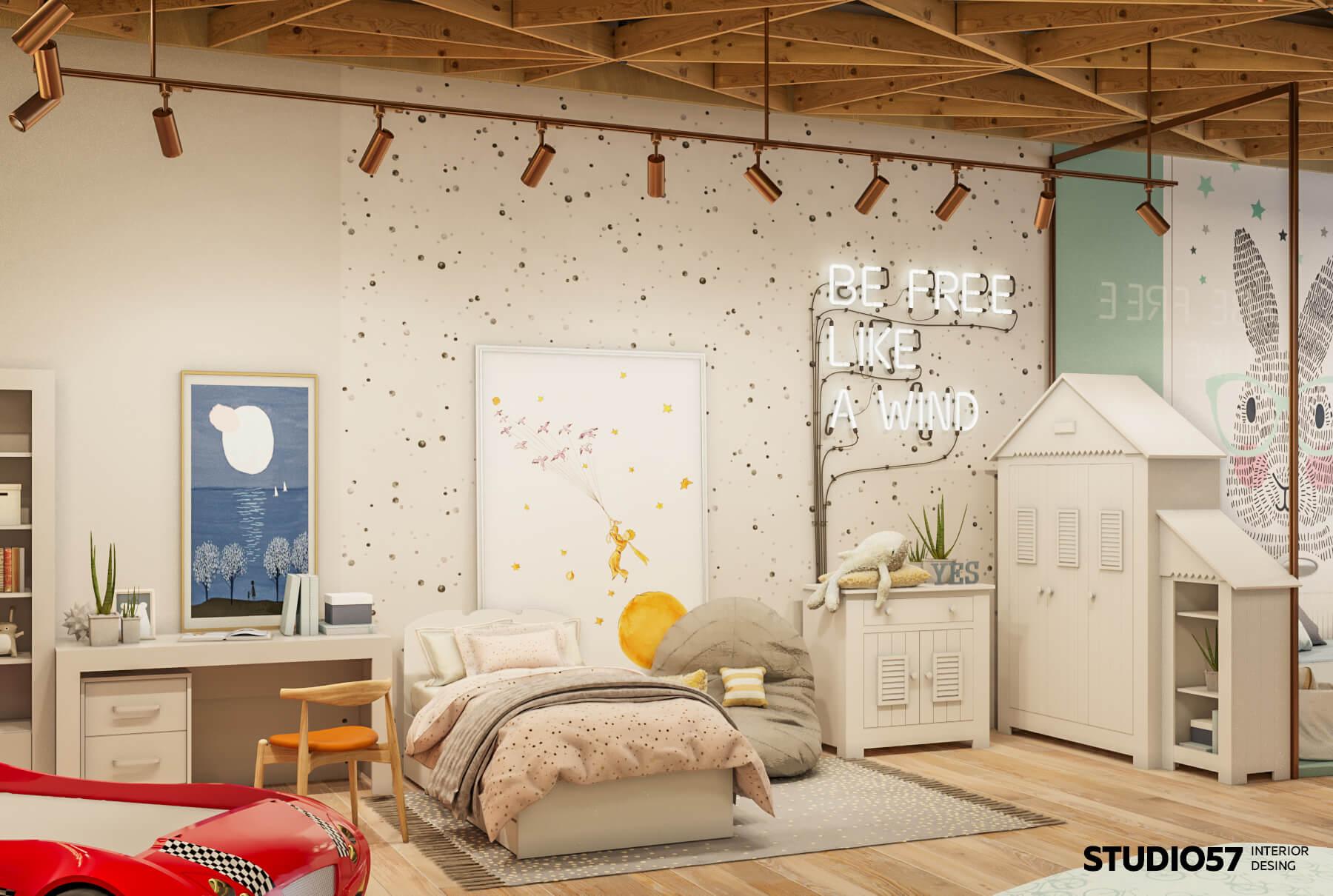 Дизайн интерьера детской мебели магазин