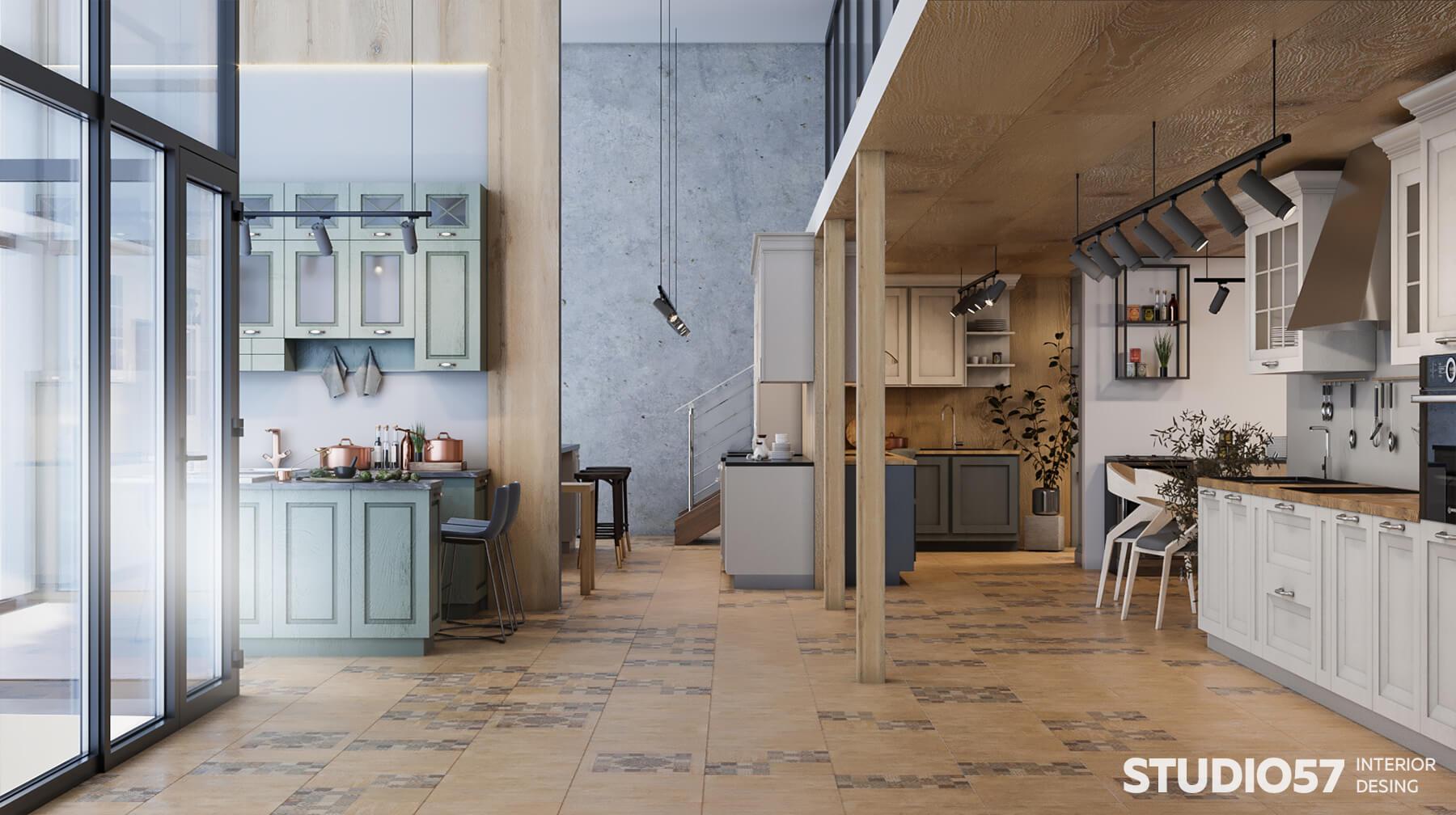 Дизайн интерьера магазина кухонь