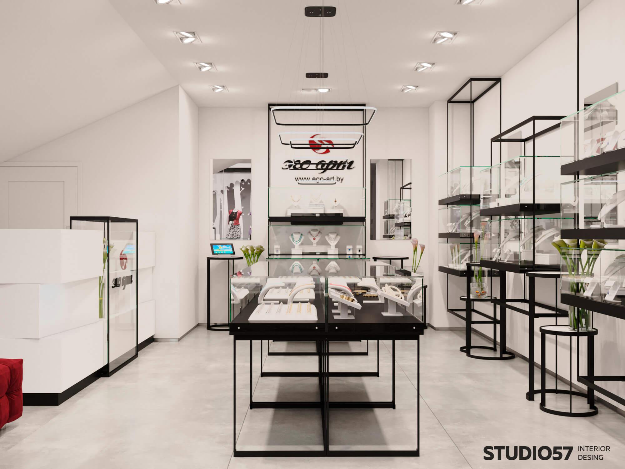 Дизайн проект ювелирного магазина примеры