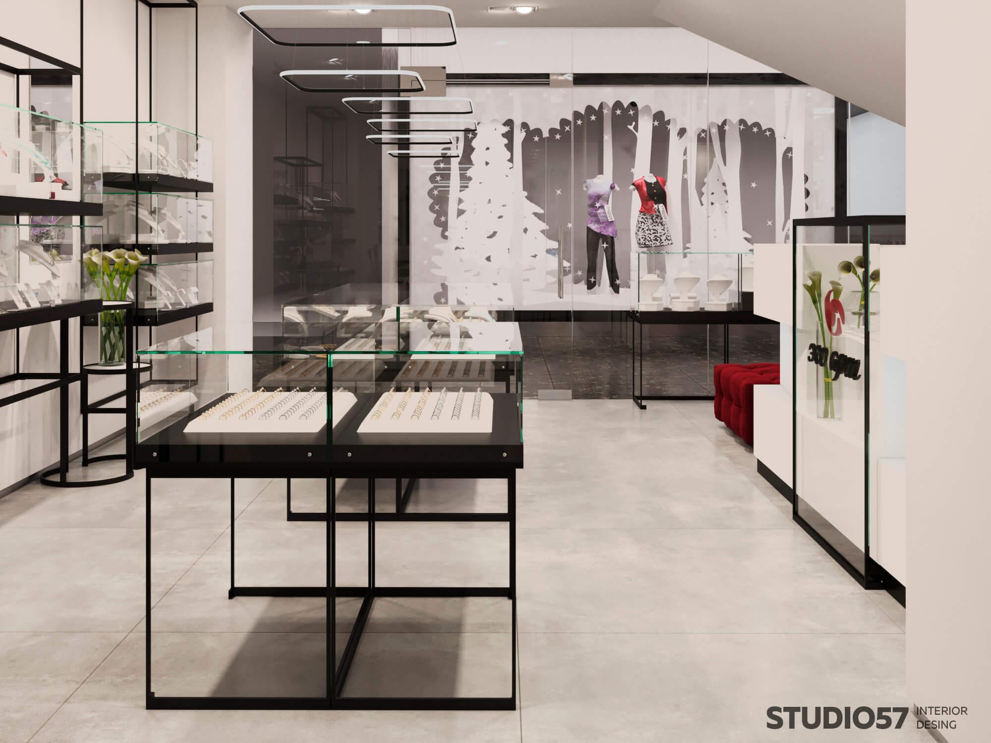 Пример оформления дизайна ювелирного магазина