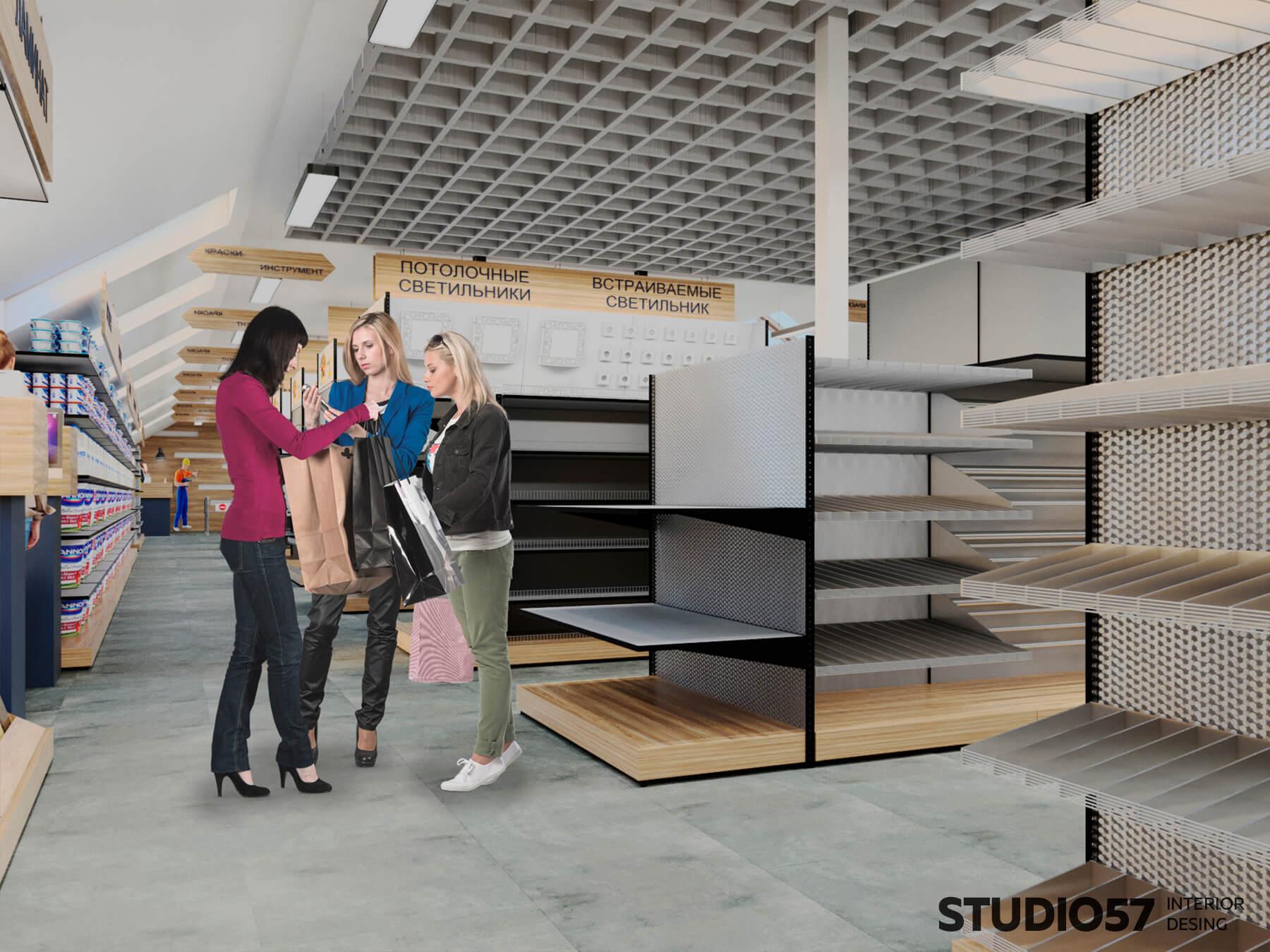 Retail дизайн магазина для стройки