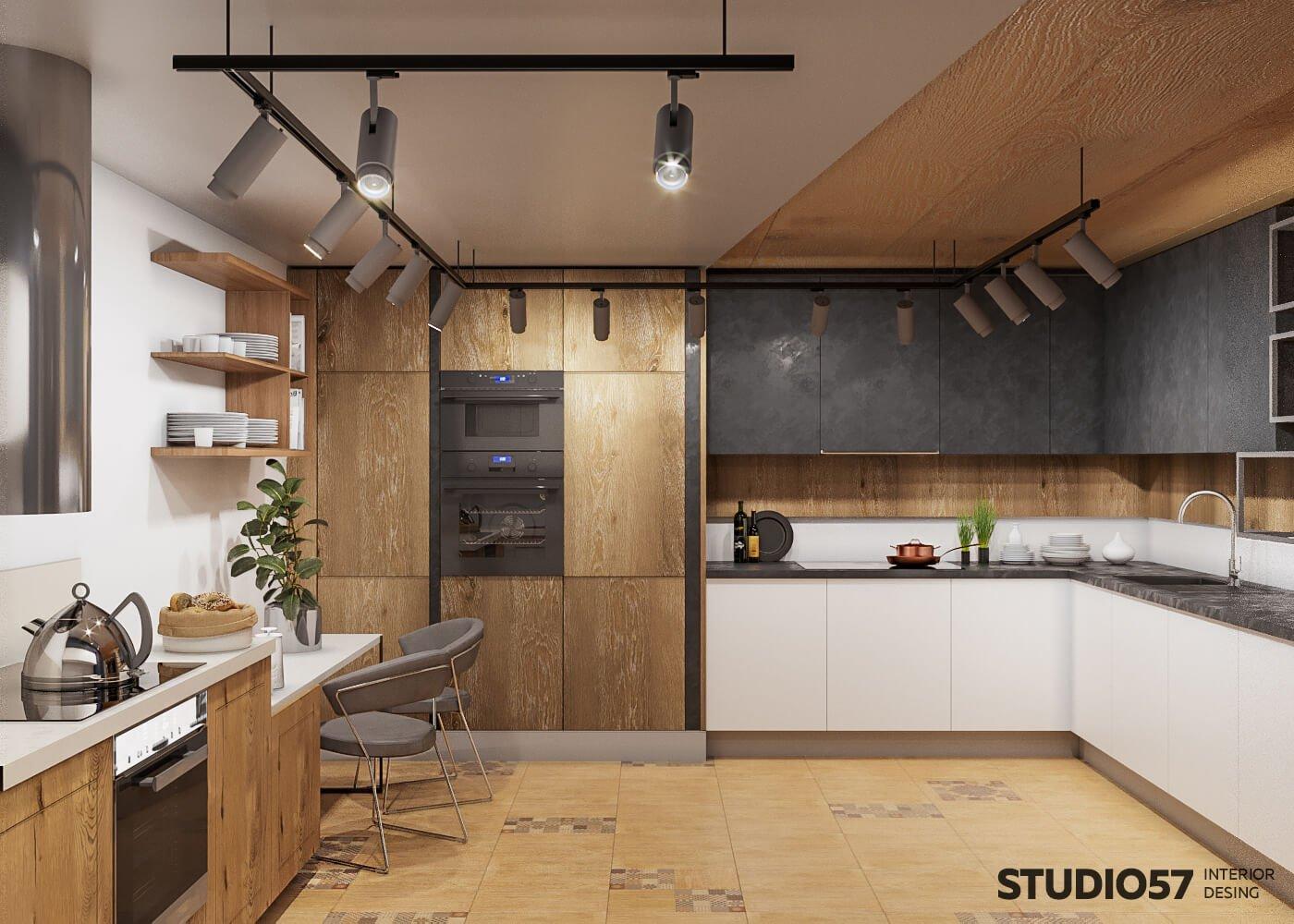 Красивый дизайн магазина с кухнями