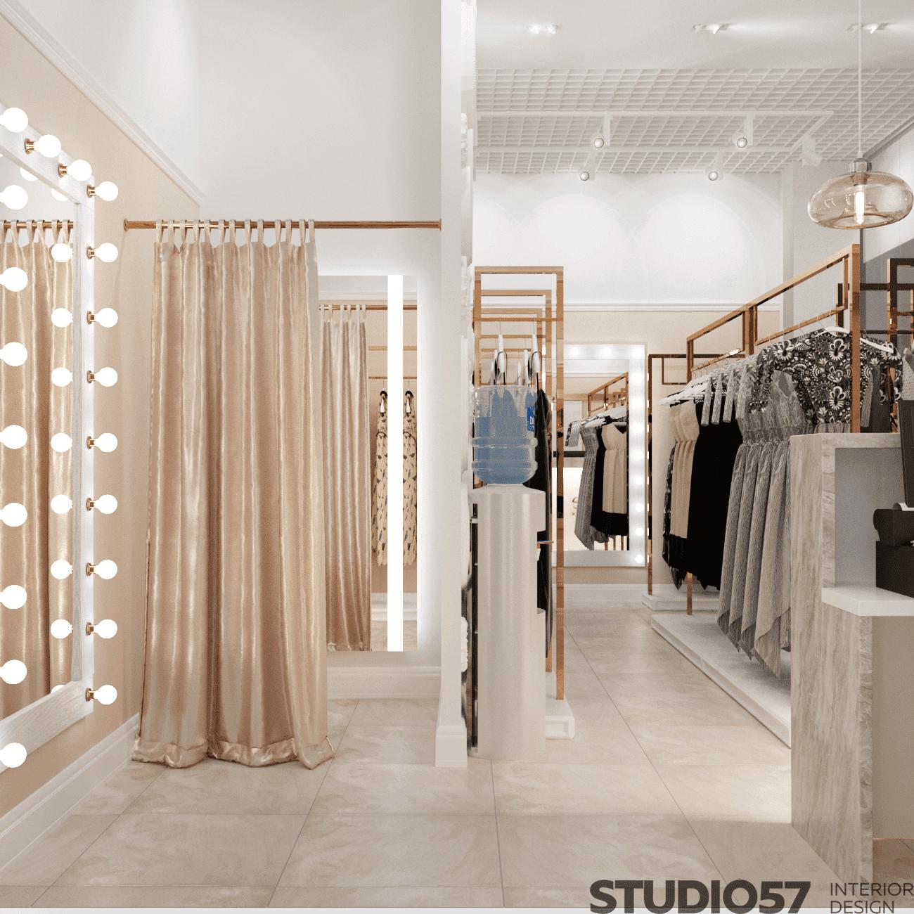 Дизайн проект магазина женской одежды