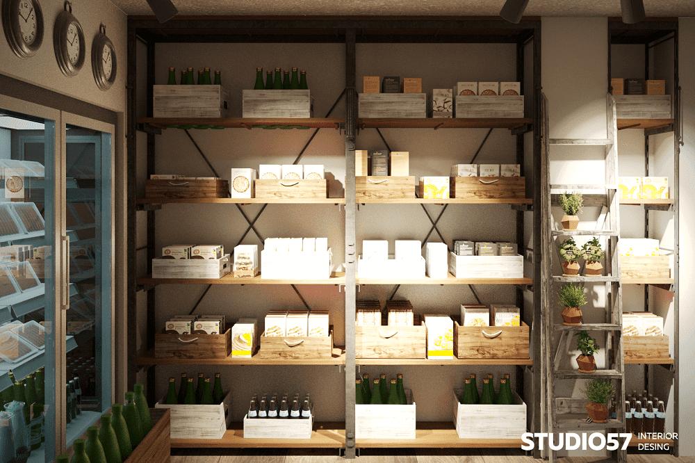 Прилавок с продуктами в маленьком магазине