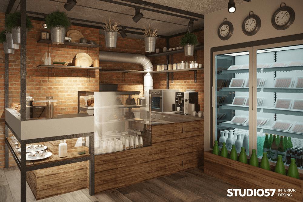 Уютный интерьер маленькой кофейни