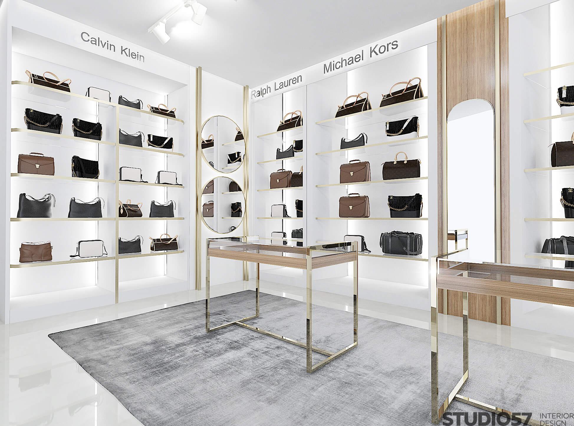 Ритейл дизайн магазина сумок фото