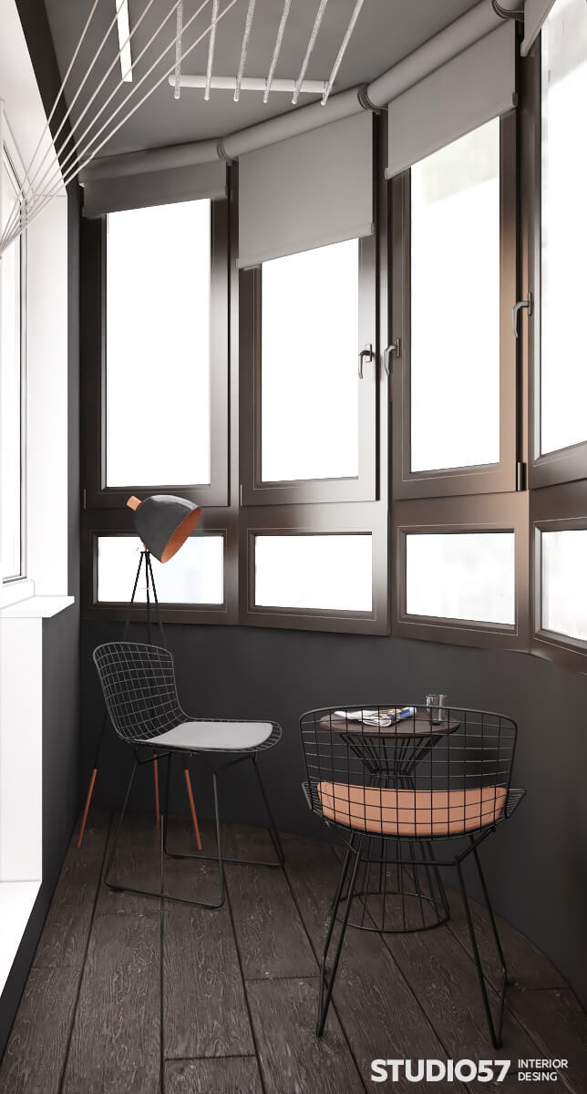 Дизайн проект лоджии с подсветкой