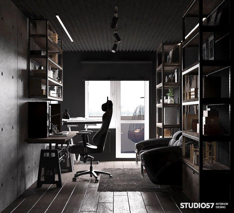 Фото кабинета в стиле Лофт