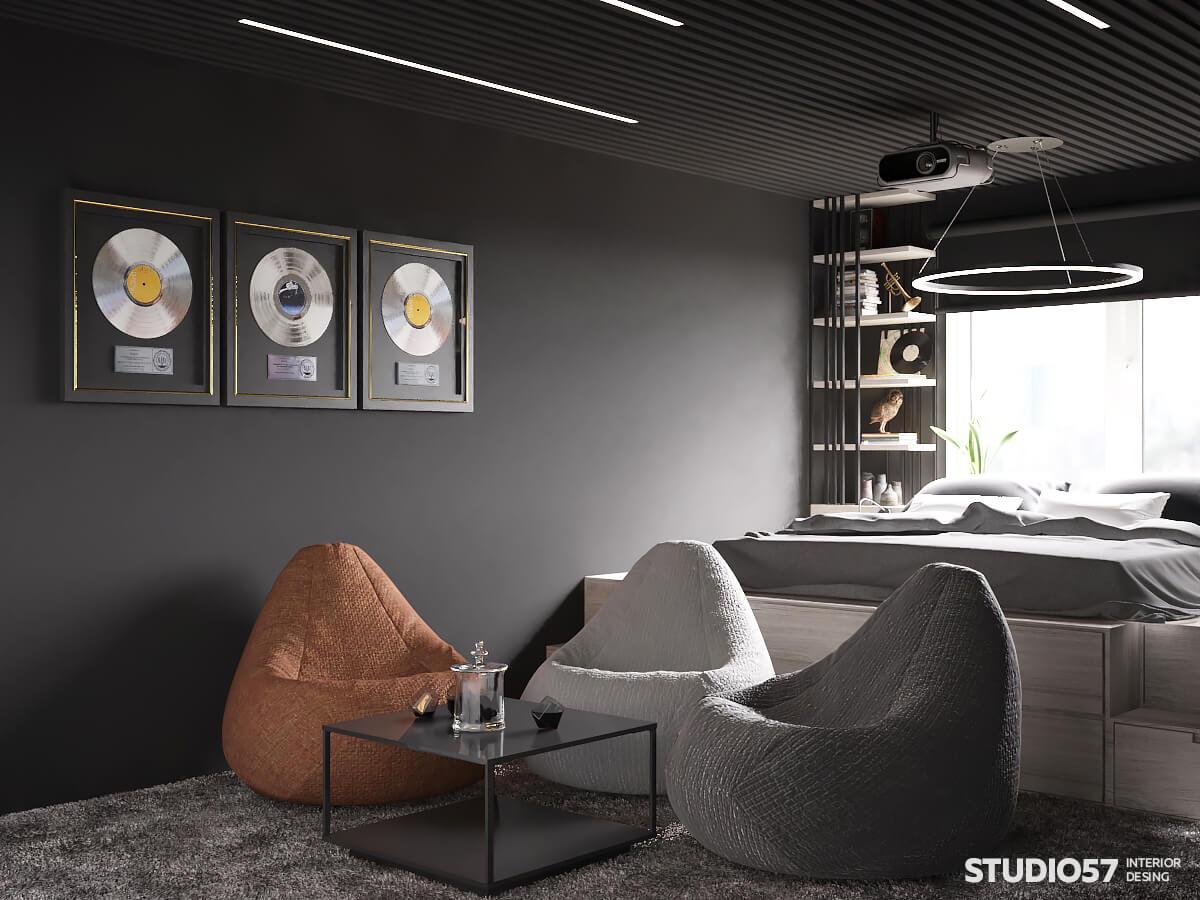 Фото кресло-груши в интерьере