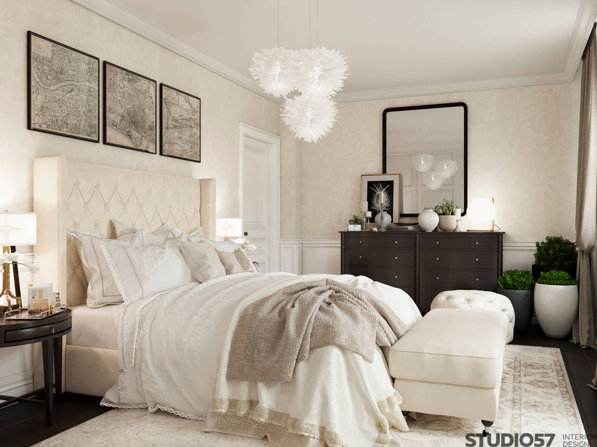 Cream color in the bedroom