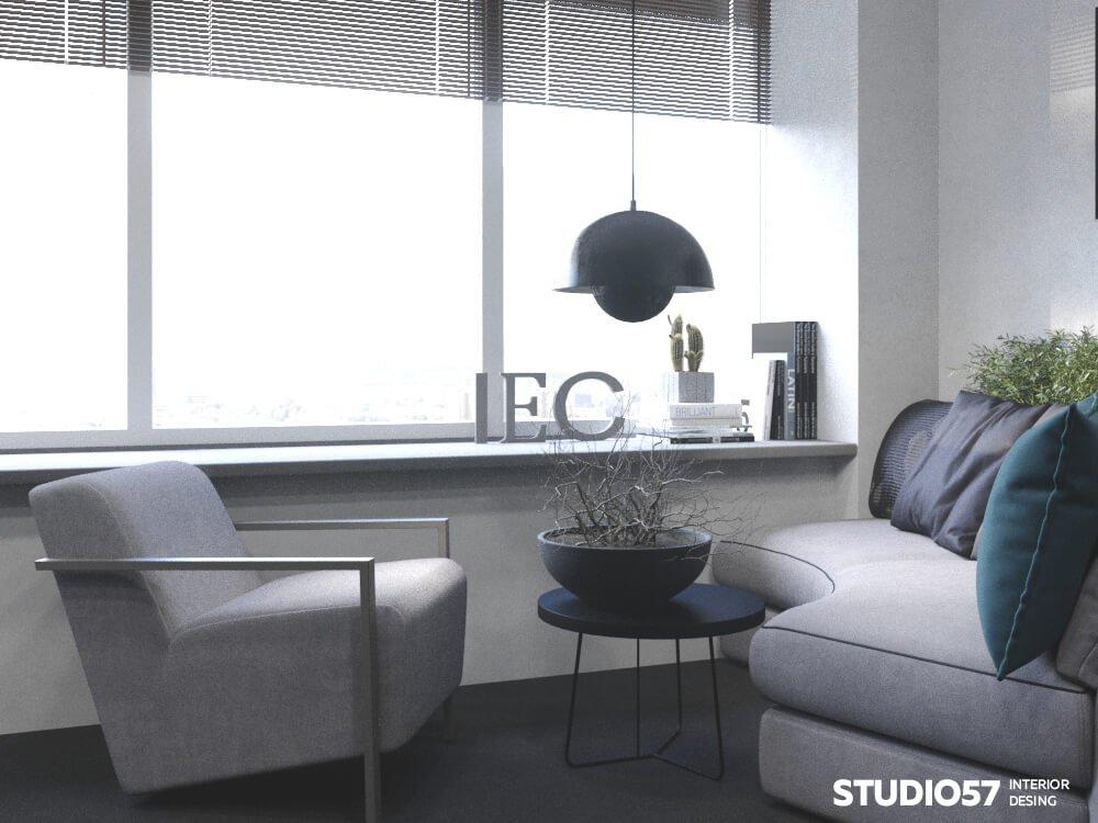 Интерьер зоны отдыха в офисе