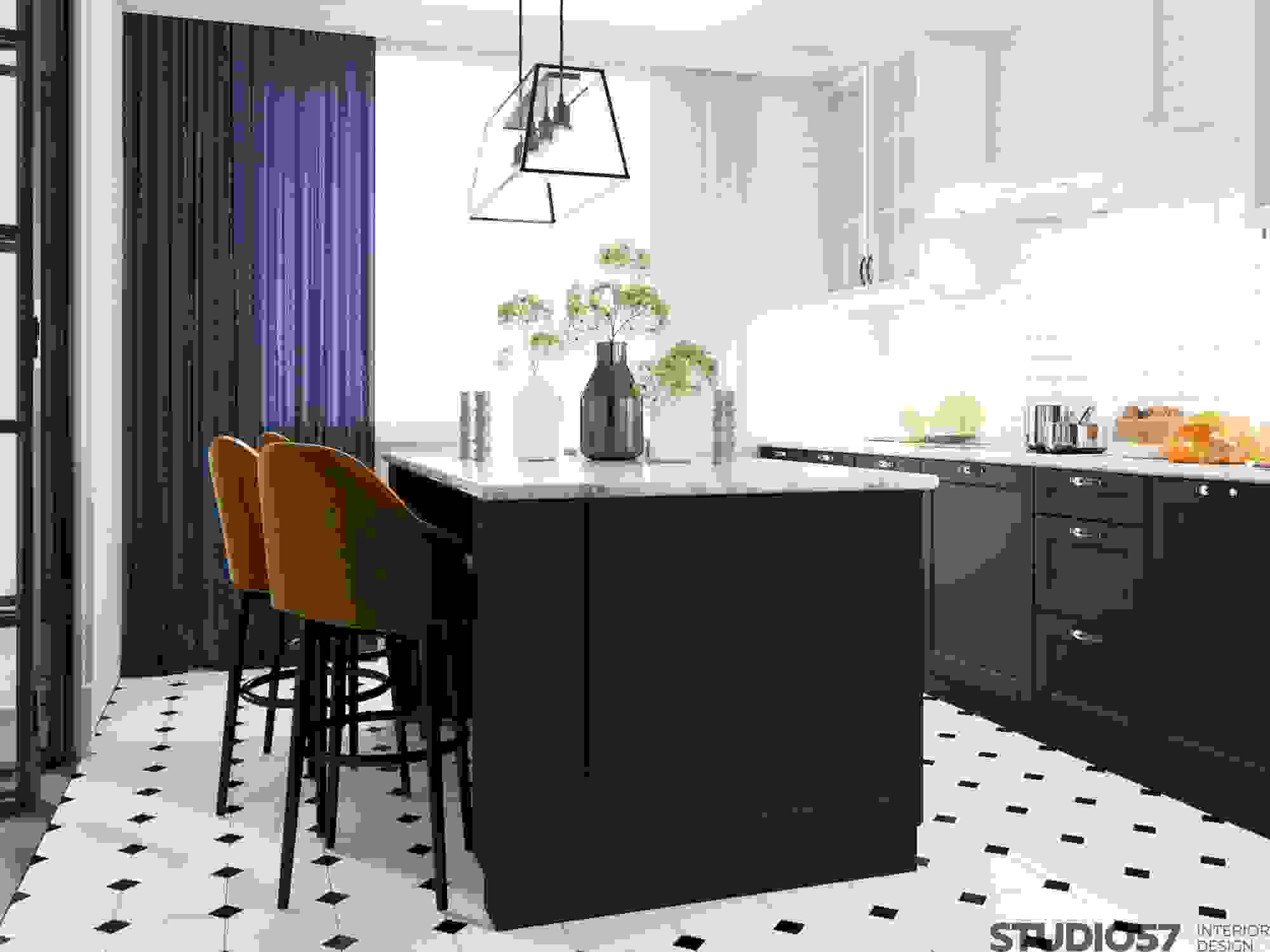 Art Deco Kitchen Interior