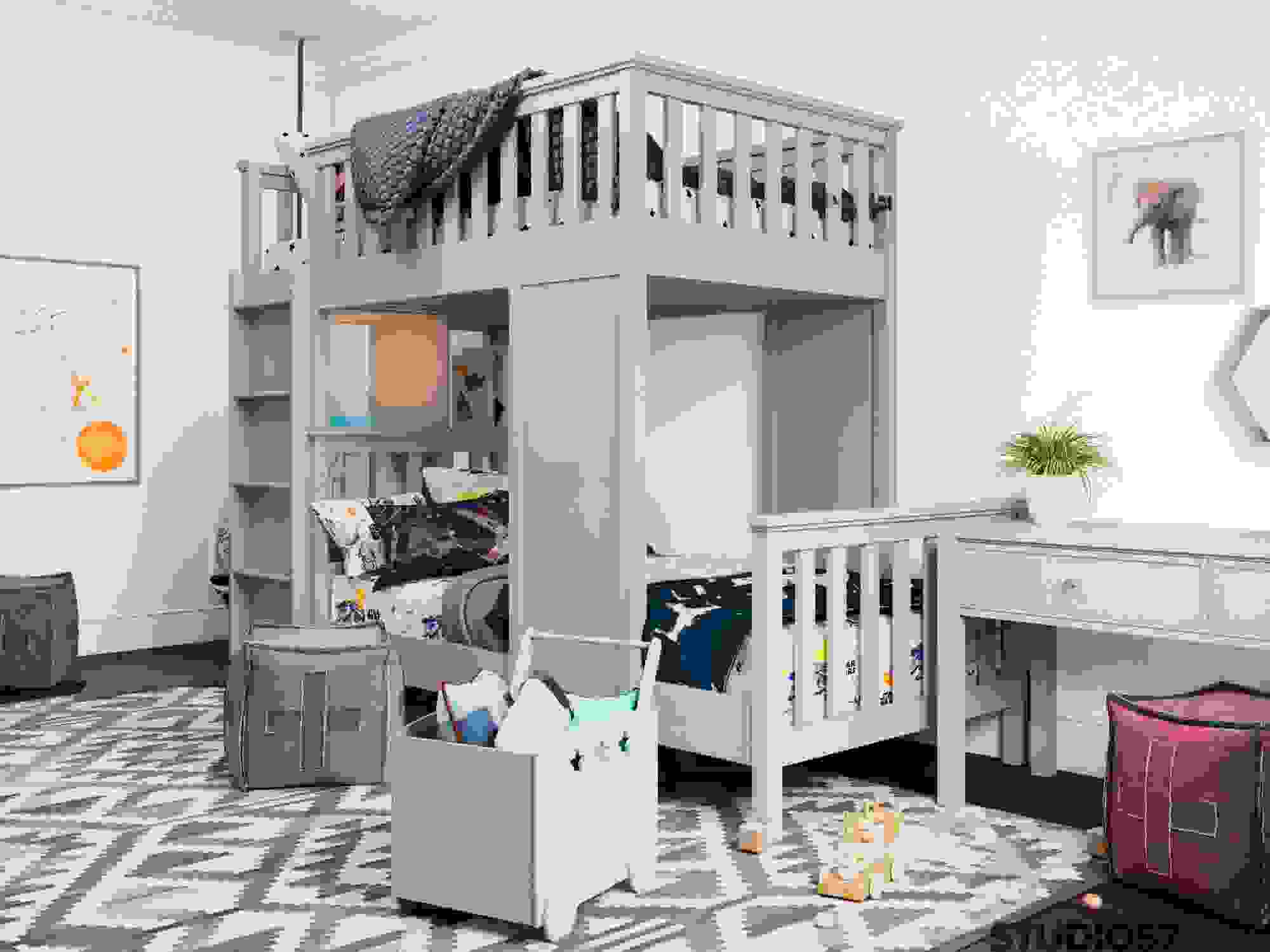 Bunk bed in the nursery