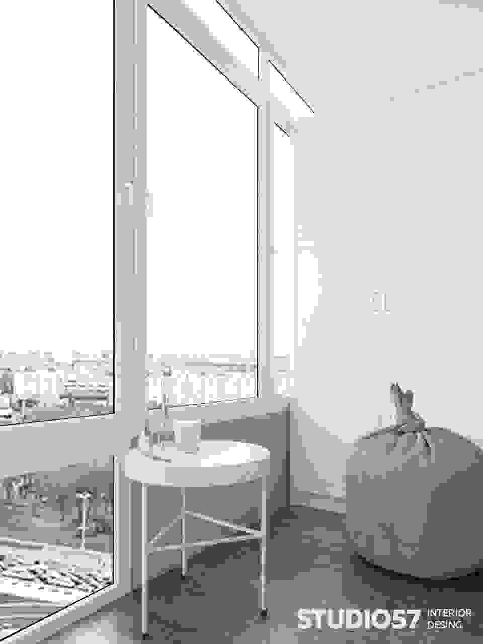 Visualization of a bright balcony