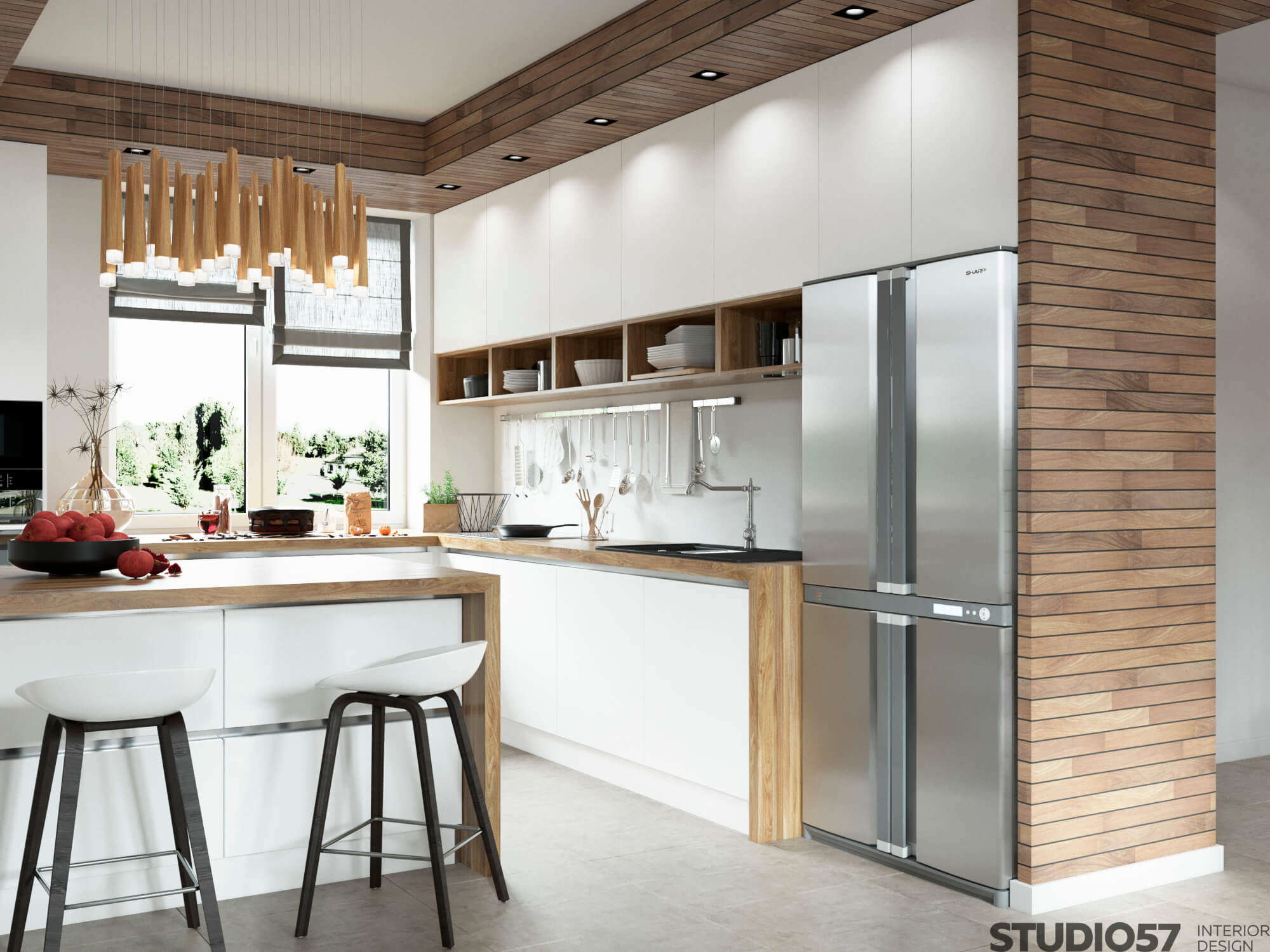 Contemporary kitchen in a private house