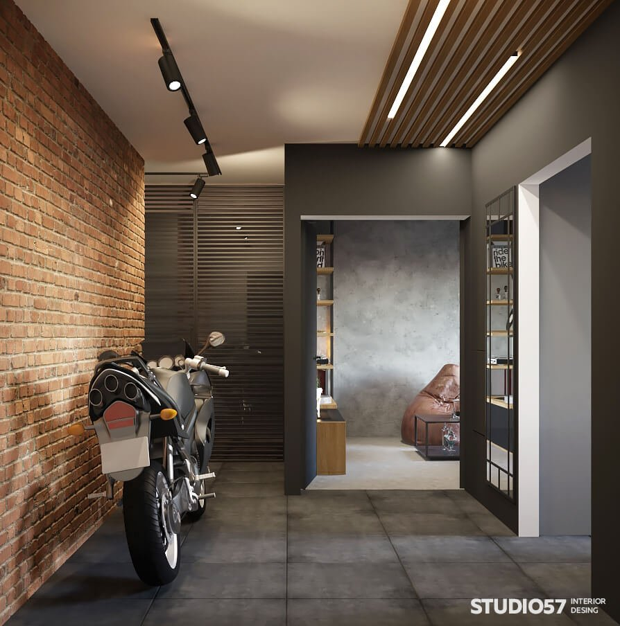 Interior design of a two-room loft apartment