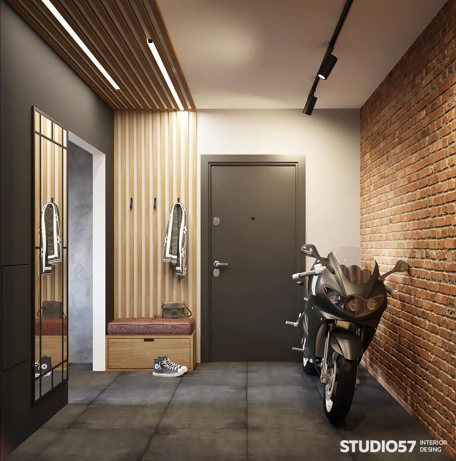 Рейки в коридоре квартиры