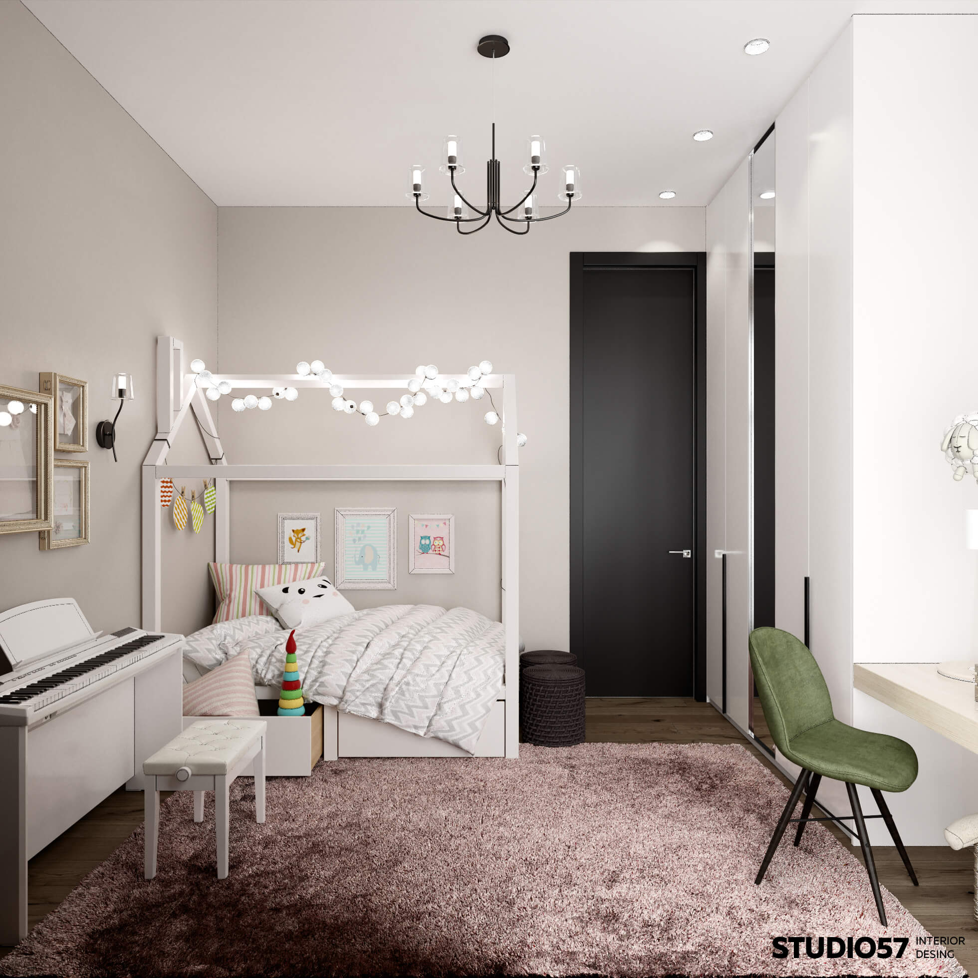 Room design for a little girl