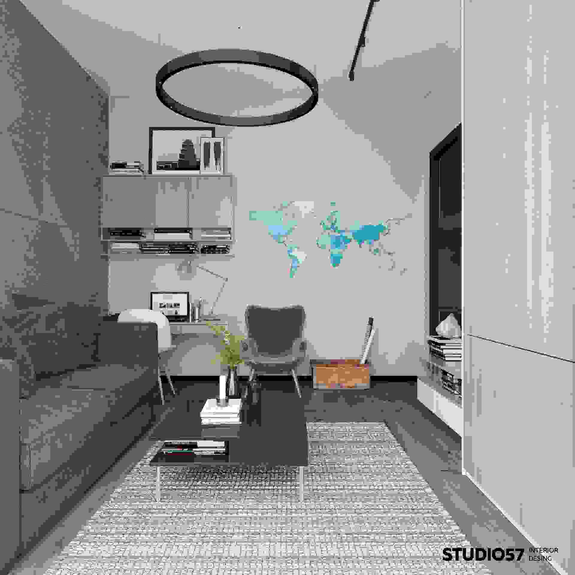 Modern interior of the room for a teenager
