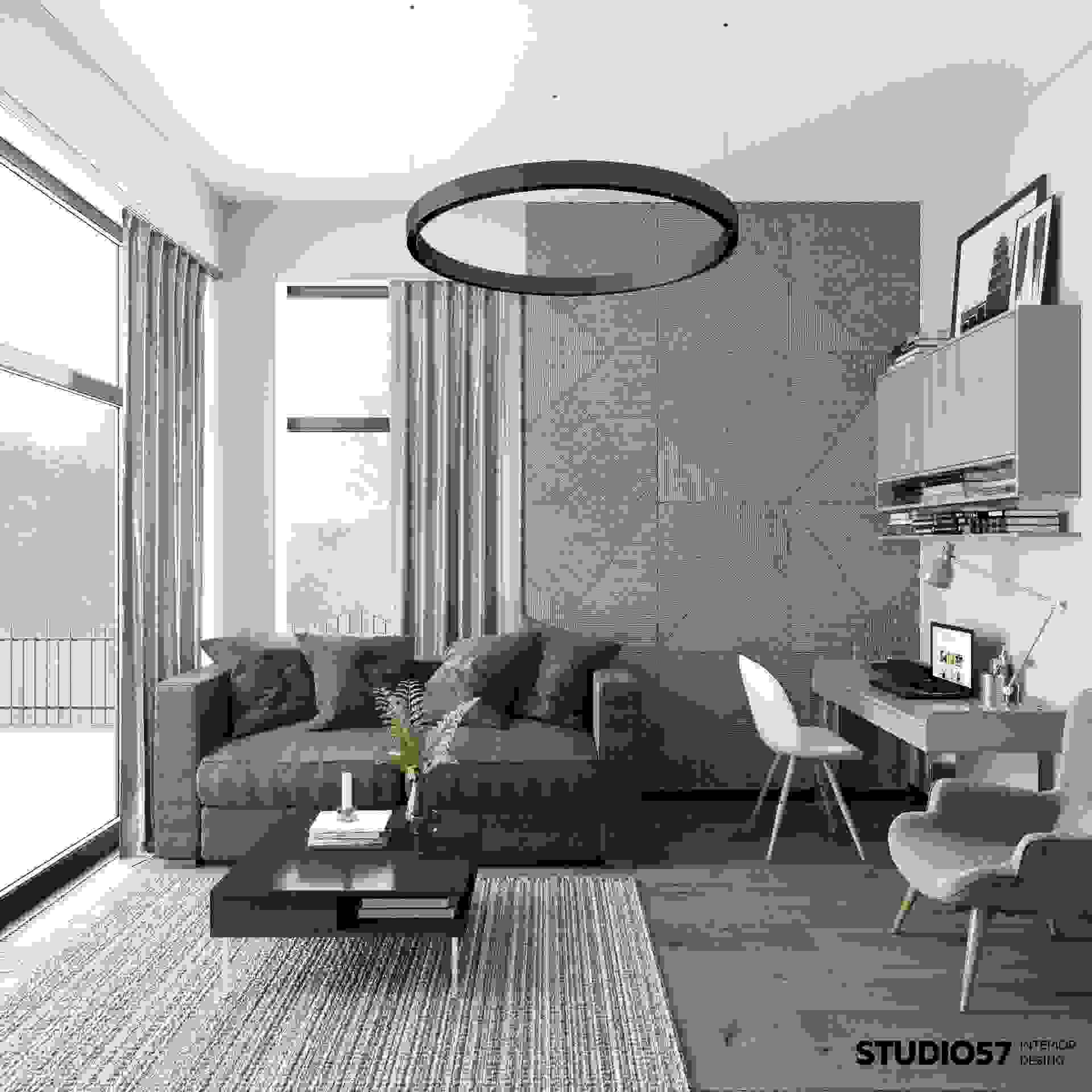 Room for a teenager in gray tones