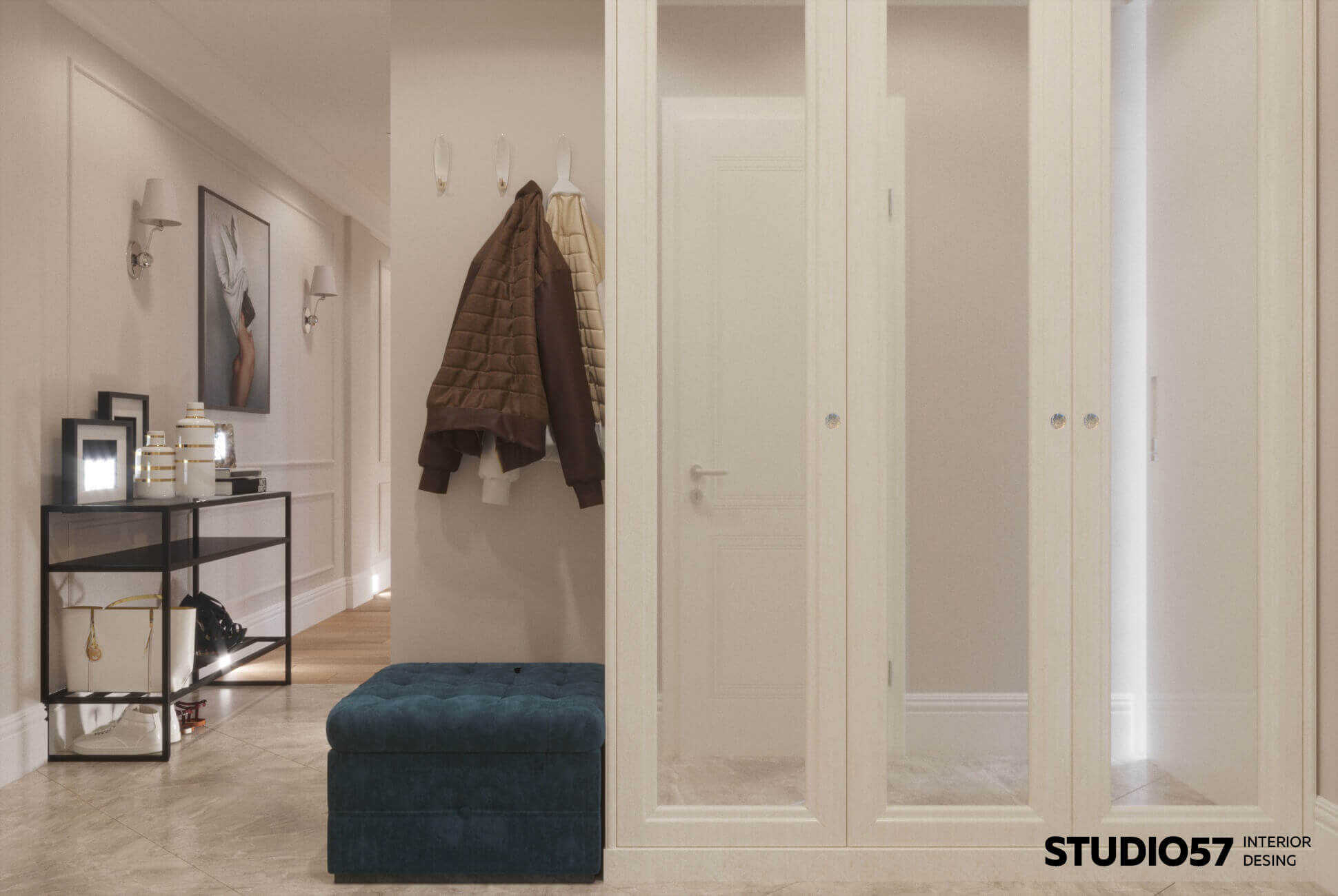 Белый коридор дизайн