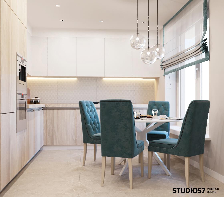оформление обеденной зоны на кухне