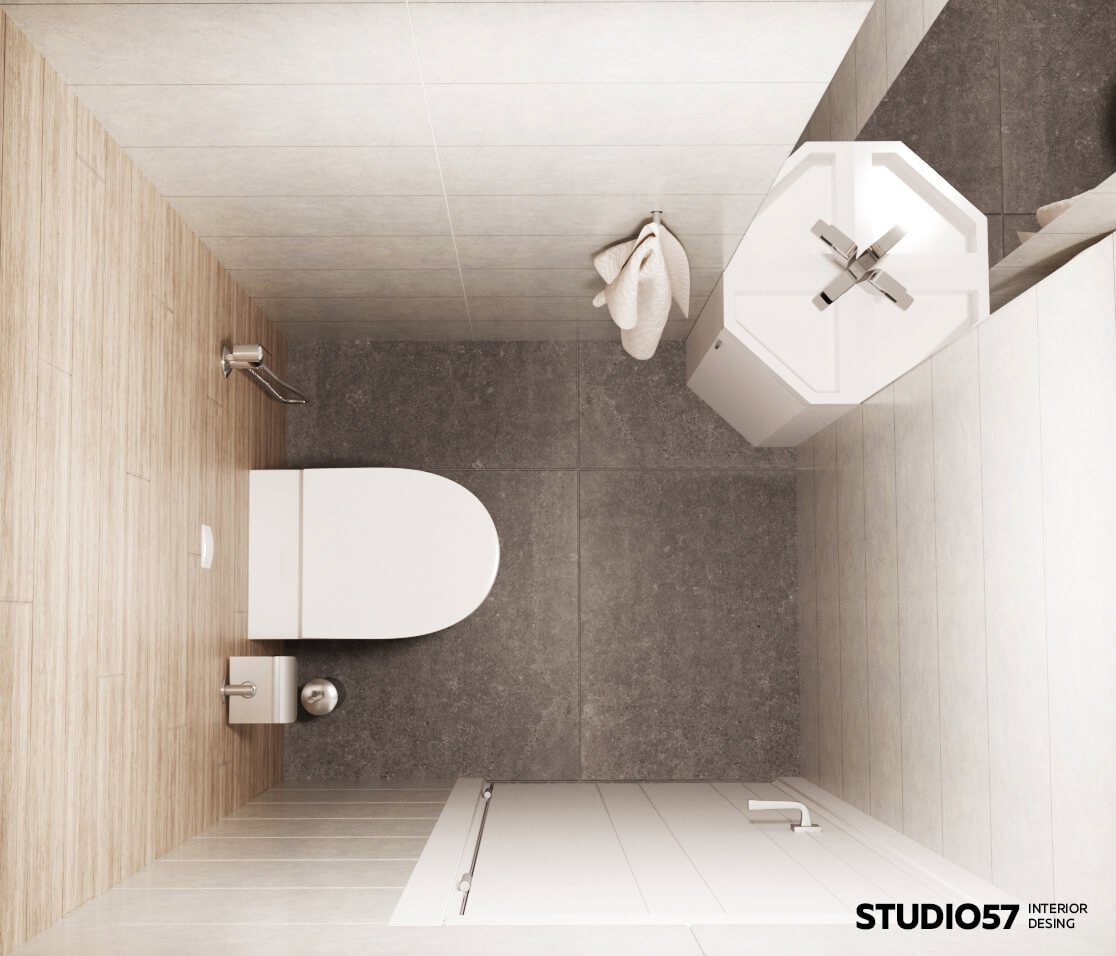 Вид сверху туалета