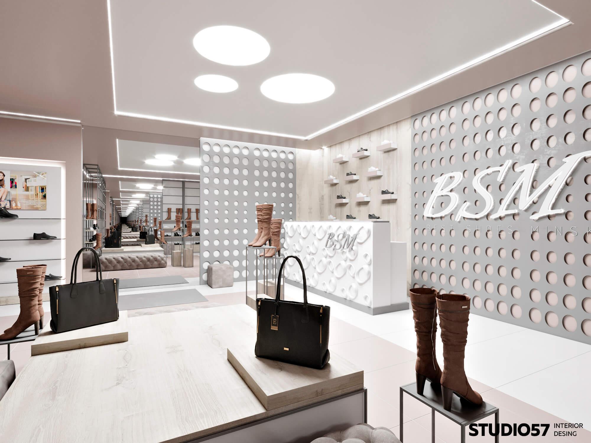 Дизайн обувного магазина пример