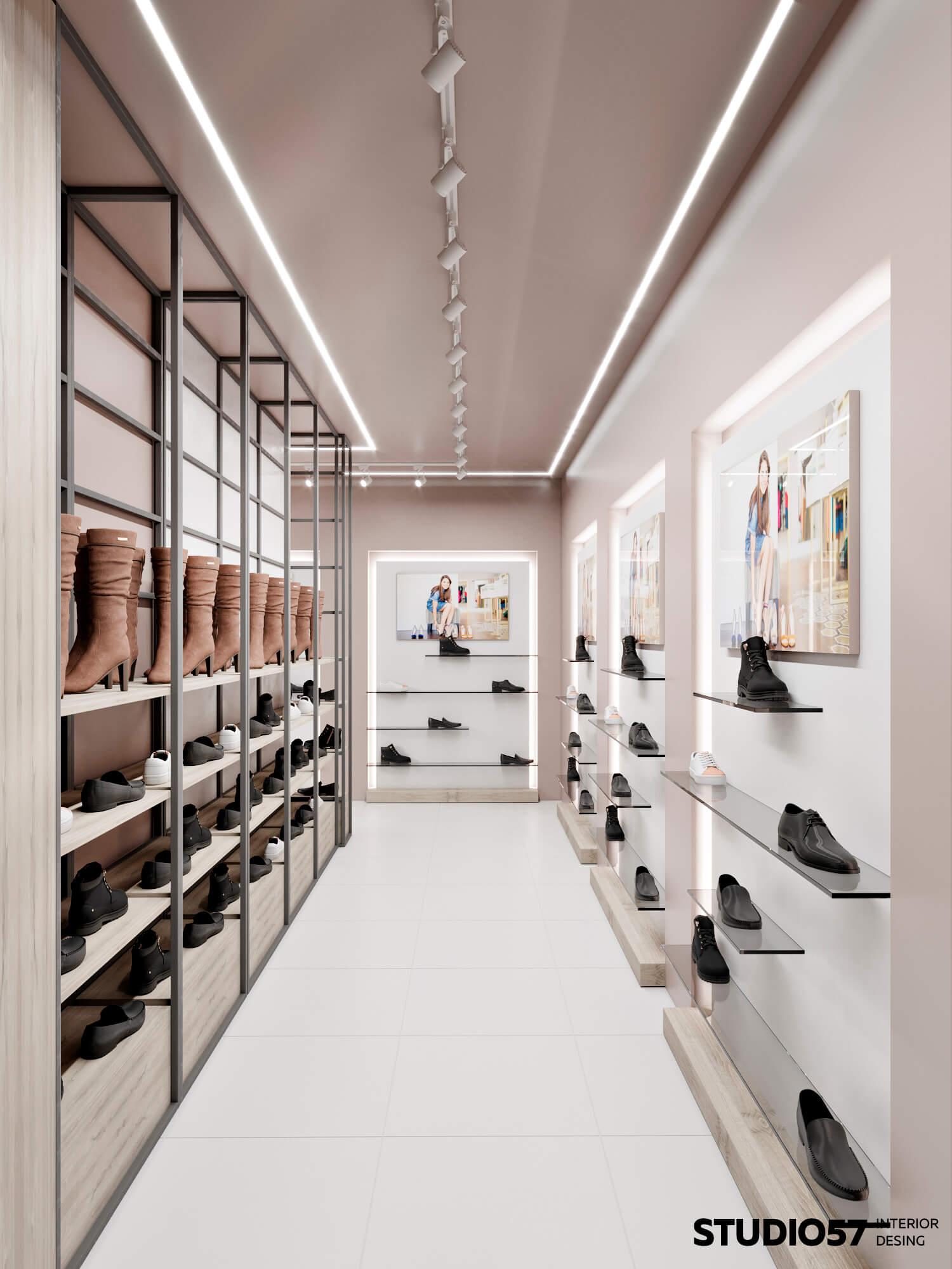 Правильная расстановка обуви в бутике