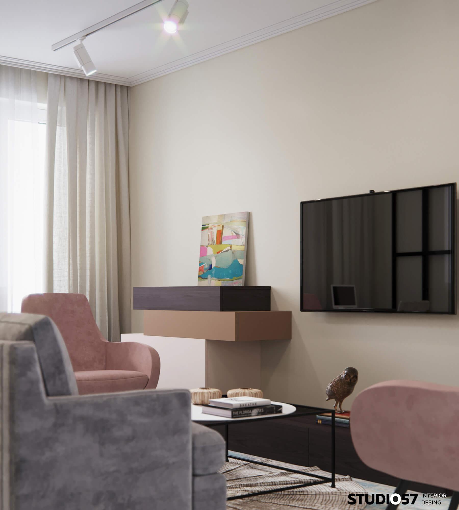Пример оформления гостиной комнаты