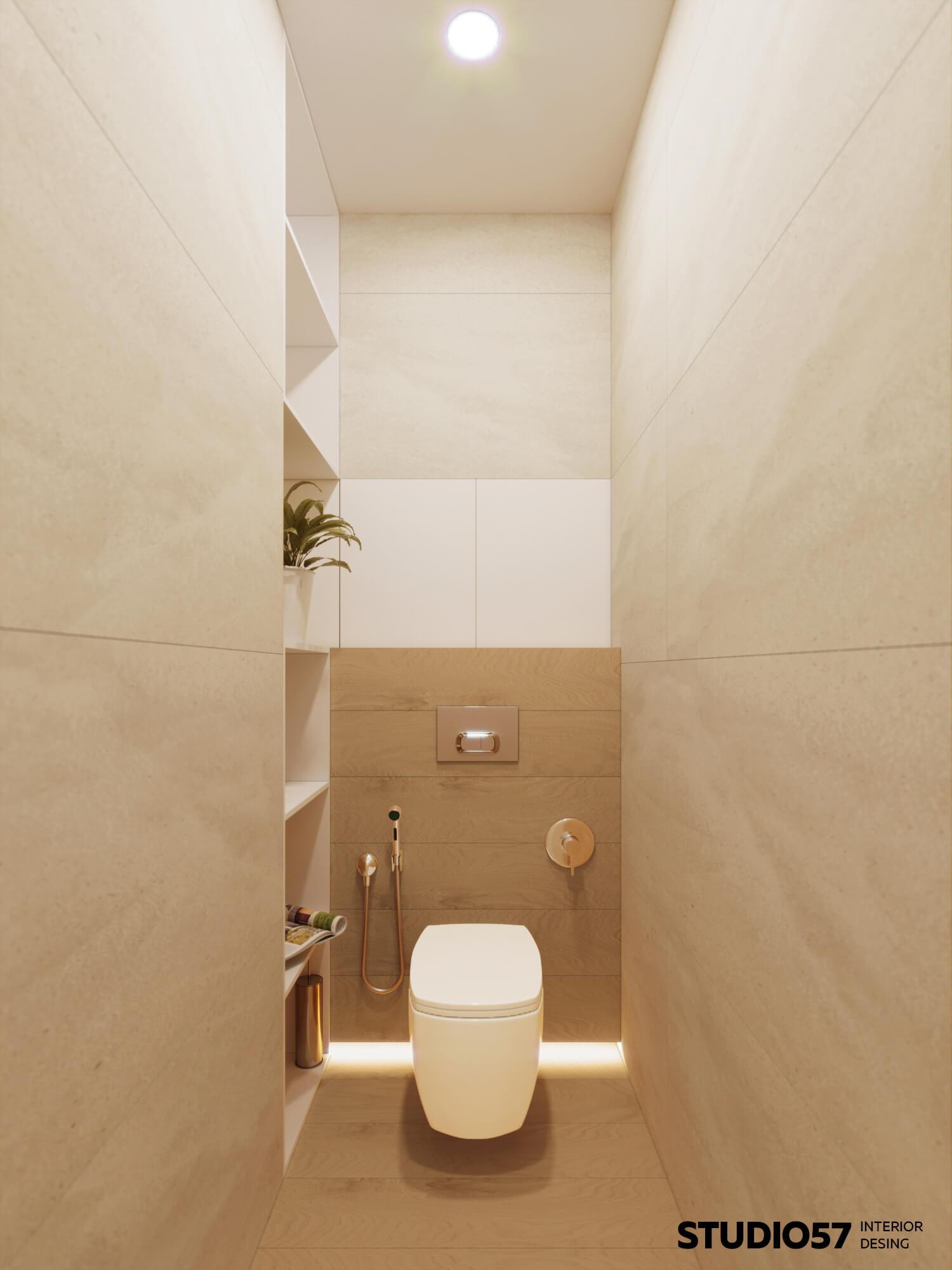 Оформление туалетной комнаты