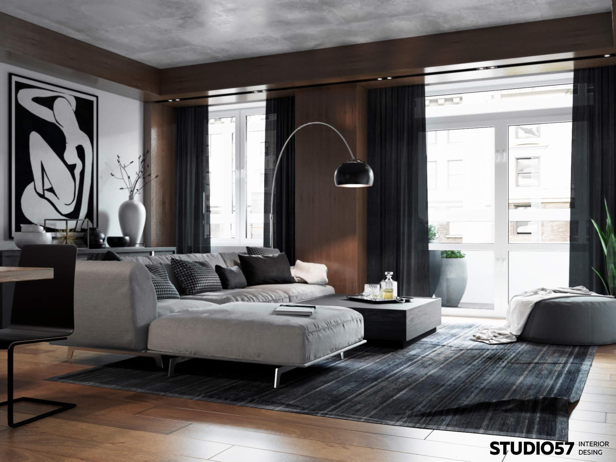 Дизайн гостиной. Зона отдыха.