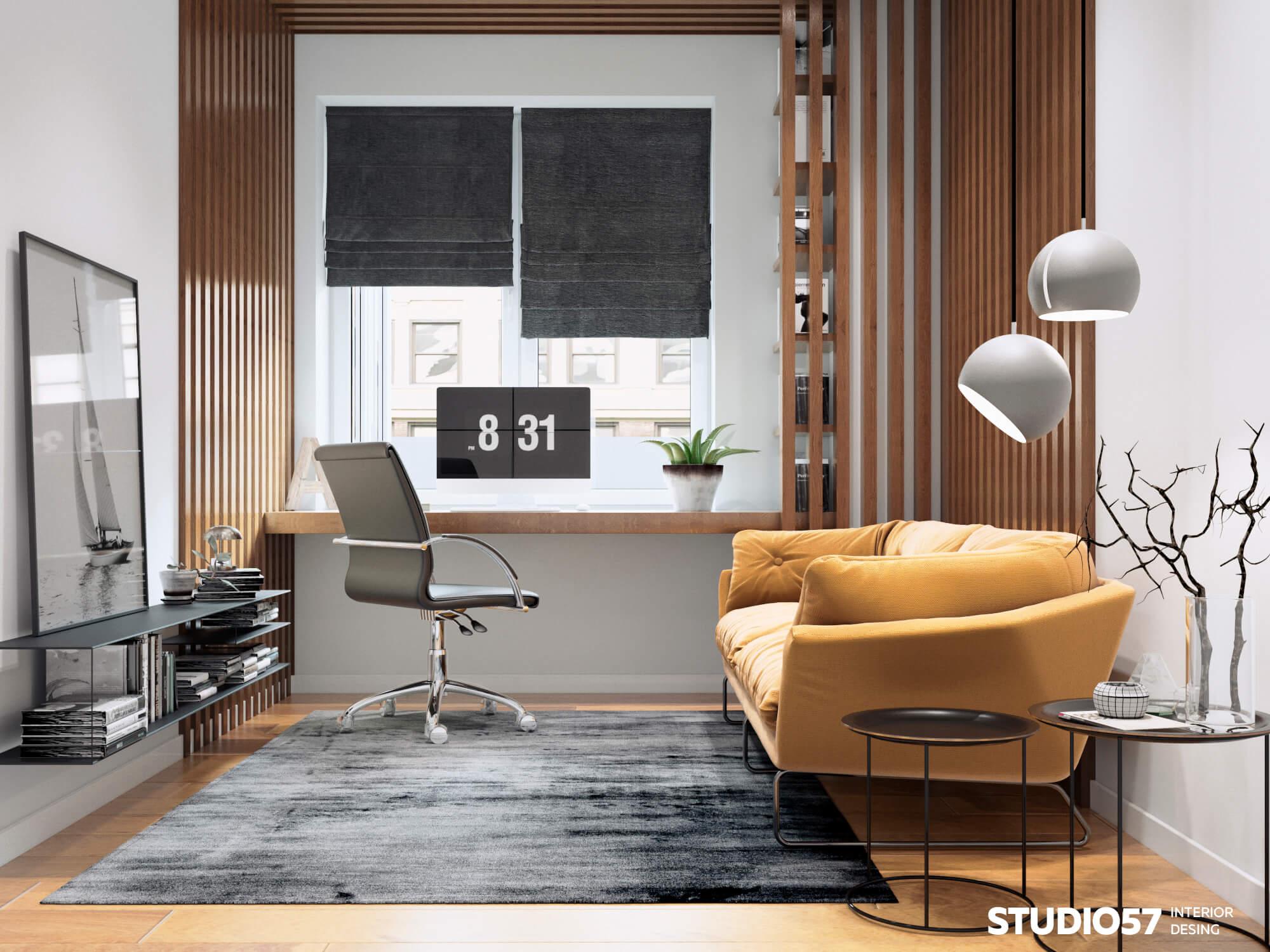 Дизайн кабинета. Вид 2.
