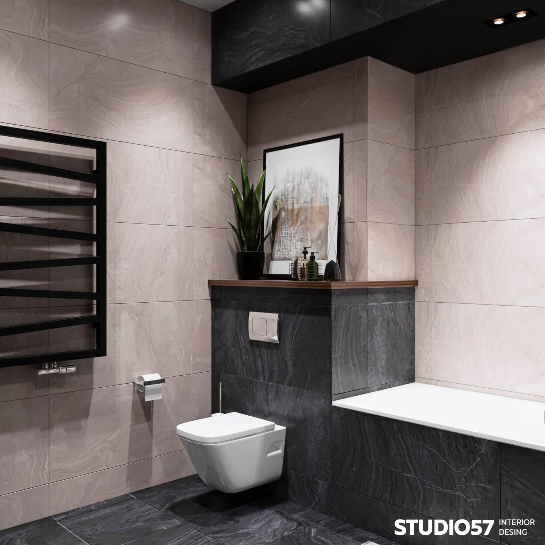 Дизайн ванной и санузла. Вид 2.
