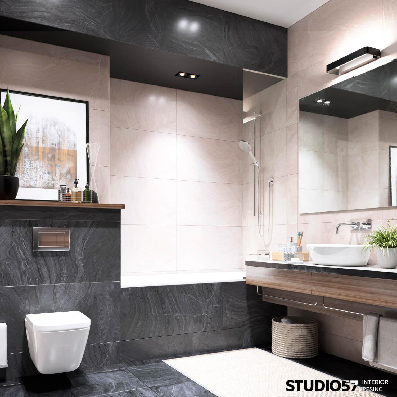Дизайн ванной и санузла. Вид 3.