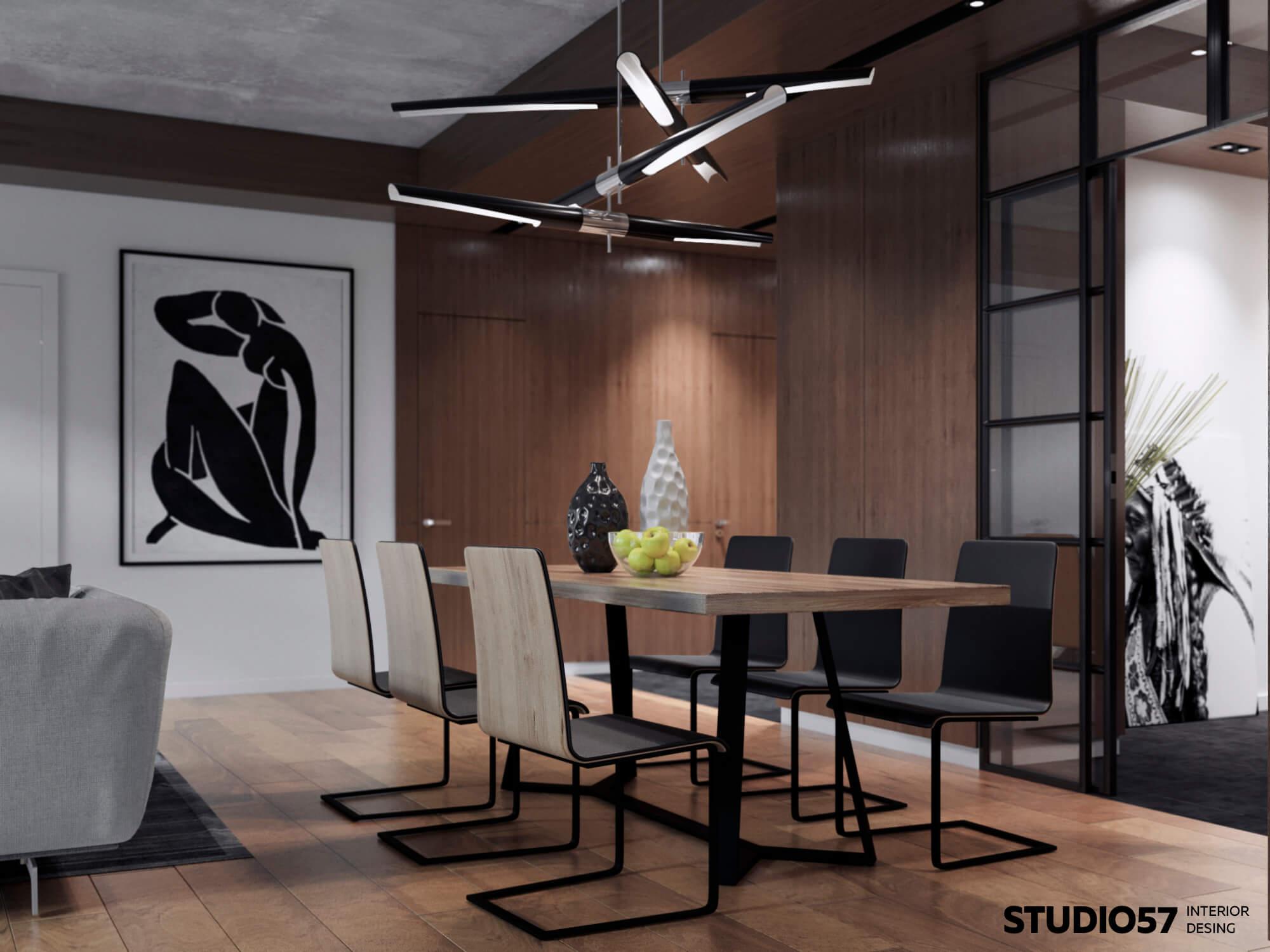 Дизайн гостиной. Столовая группа.