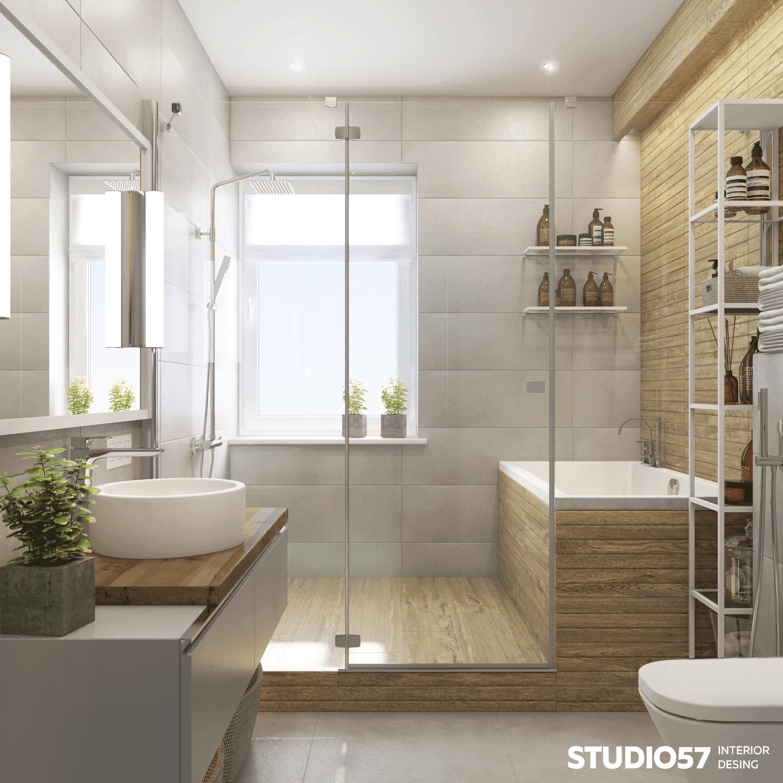 Оформление ванной с душевой кабиной