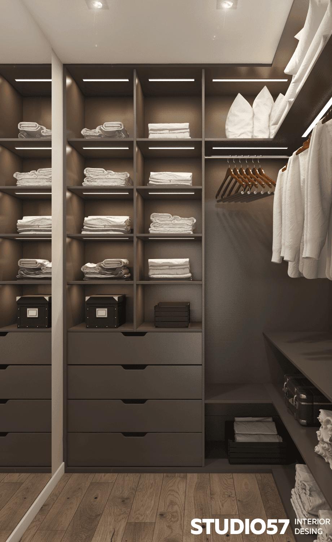 Оформление маленькой гардеробной