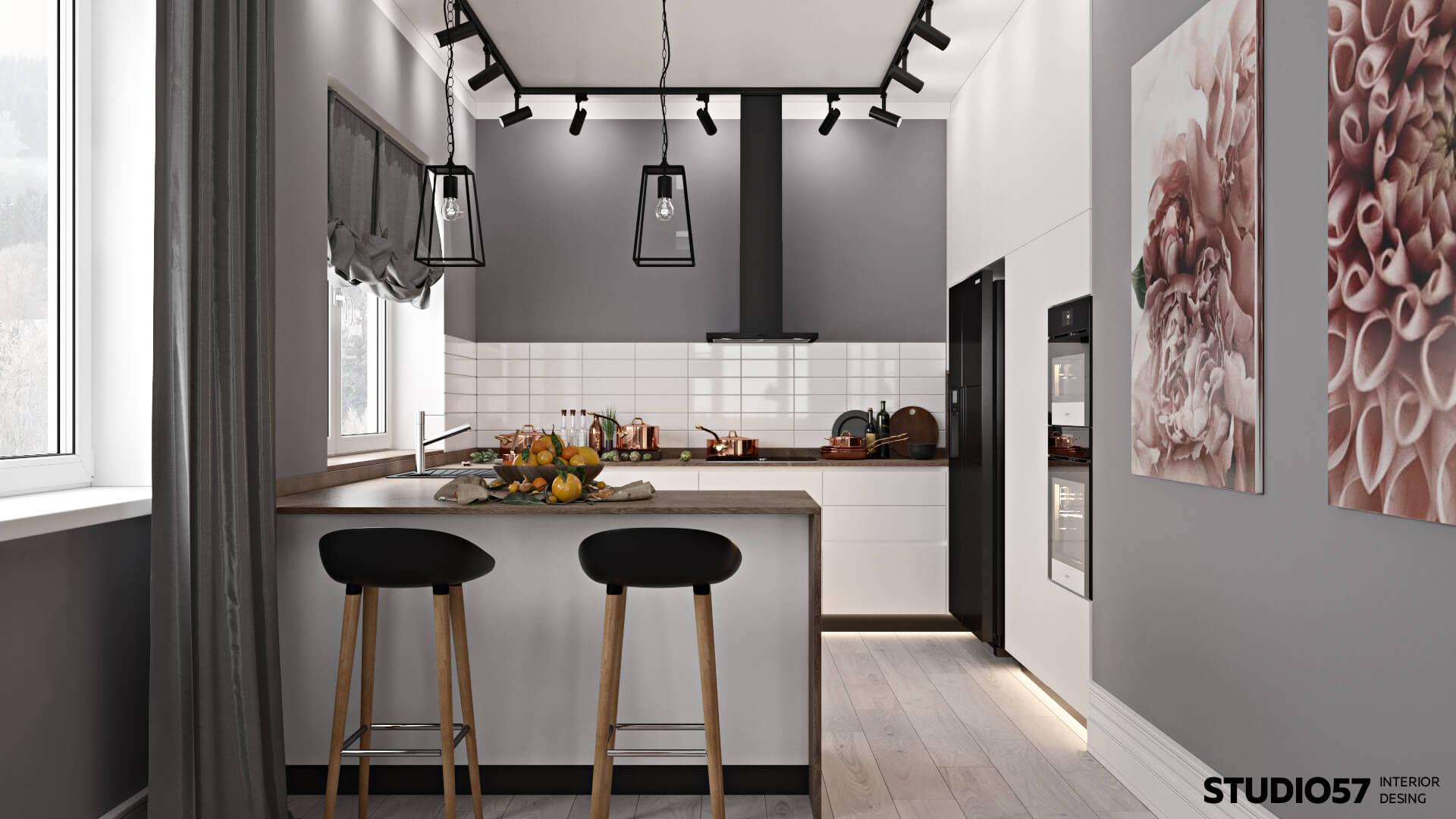 Интерьер кухни в доме
