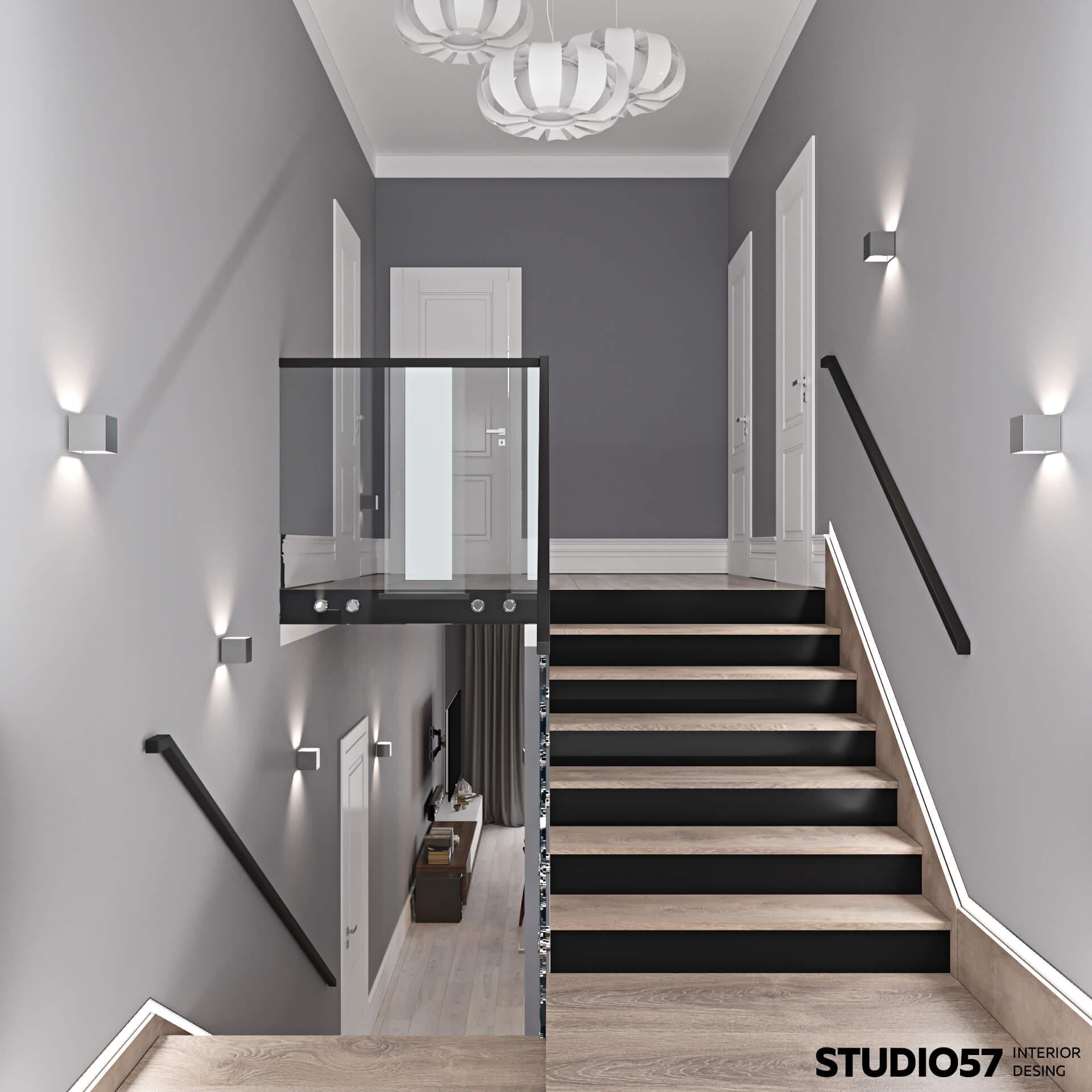 Интерьер двухэтажных домов