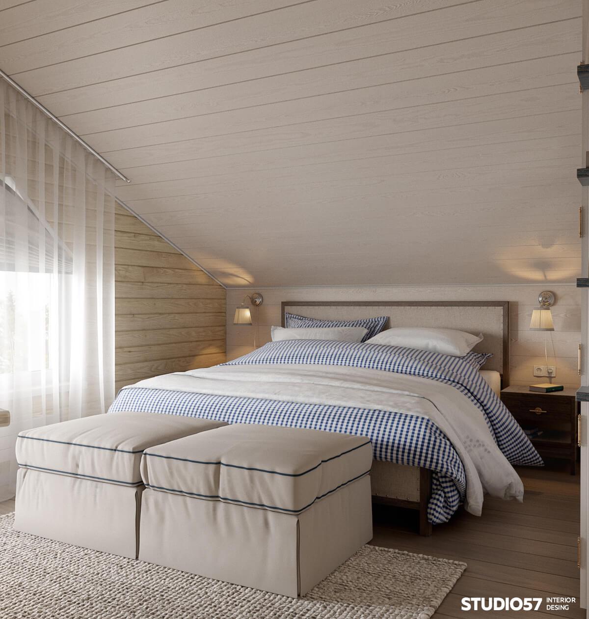 Оформление спальни в доме