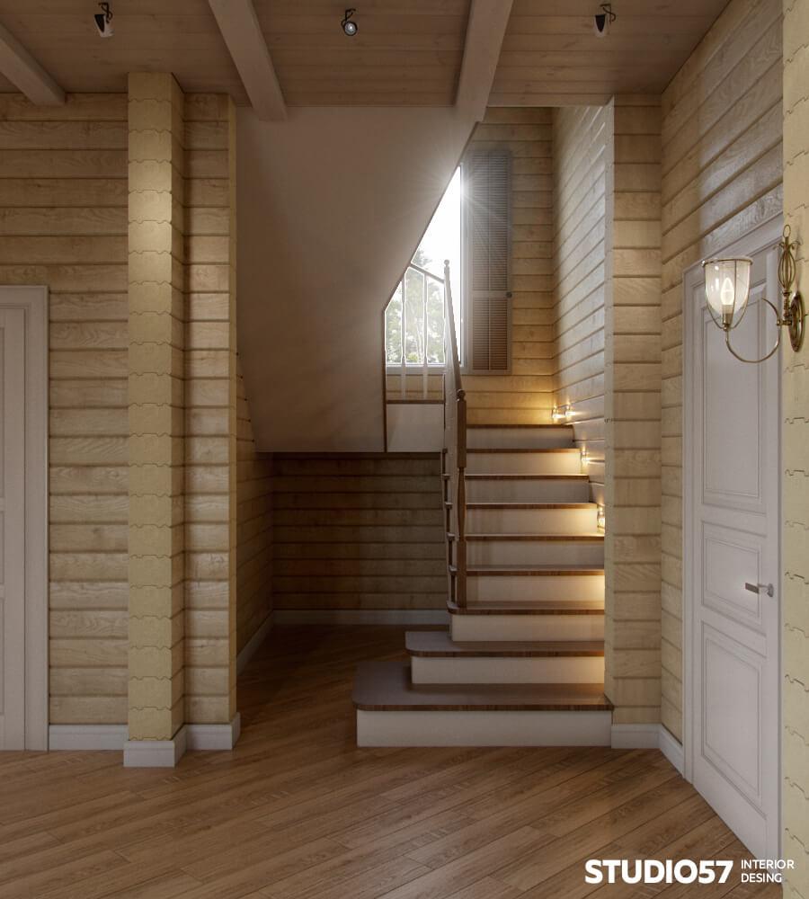 Оформление дома в деревянном стиле