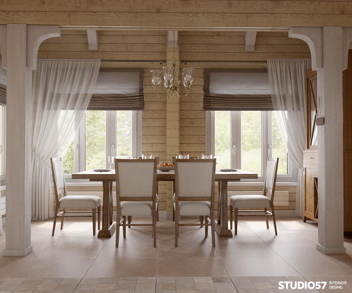 Оформление окна на кухне в современном